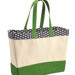 BB300 Patterned Top Beach Tote Thumbnail