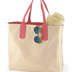 BB500 Solid Tote with Contrast Handles Thumbnail